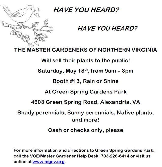 2013 Plant Sale Flyer