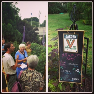 Master Gardeners of Northern Virginia tour the Victory Garden.