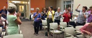 Cheers for 5000-hour milestone award recipient Judy Funderburk