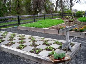 A rather formal kitchen garden set into a meadow on an organic sheep farm near Middleburg. Photo: Christa Watters