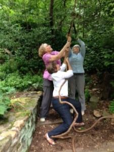 Women holding rope