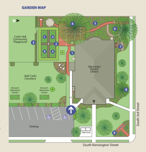 GC Library Garden Brochure Map