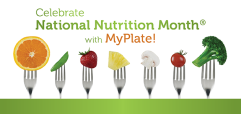 Celebrate National Nutrition Month logo