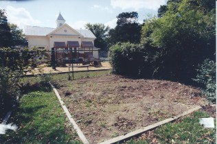 Garden before the Gazebo in 2000