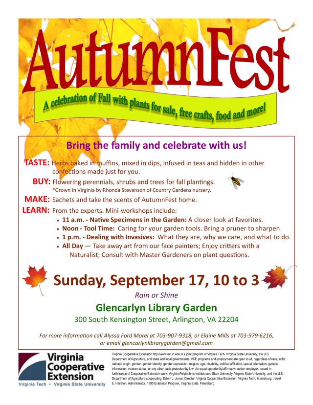 Autumnfest! Glencarlyn Library Community Garden
