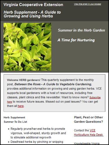 Quarterly Herb Garden Supplement VCE Herb Garden Supplement Winter VCE Herb Garden Supplement Spring VCE Herb Garden Supplement Summer VCE Herb Garden Supplement Fall