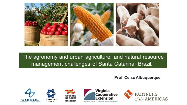 The agronomy and urban agriculture, and natural resource management challenges of Santa Catarina, Brazil