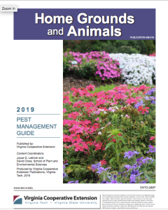 Pest Management Guide: Home Grounds and Animals, 2019