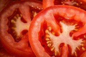 Tomato Slices close up